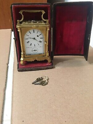 Antique Vienna Carriage Clock Jacob Degen C1790-1840 Wien Goering Rare With Case