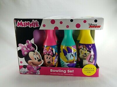 Disney Minnie Mouse Bowling Set Toy Gift Set For Kids Indoor Outdoor Fun