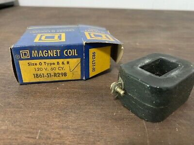 One (1) Square D 1861-S1-R29B Coil 120V 60Hz Size 0, NOS
