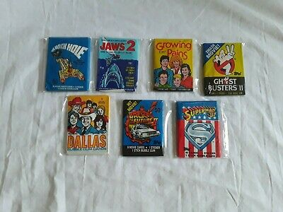 lot of 7 vintage Non Sports Wax Packs Trading Cards Assorted Lot, THE BLACK HOLE