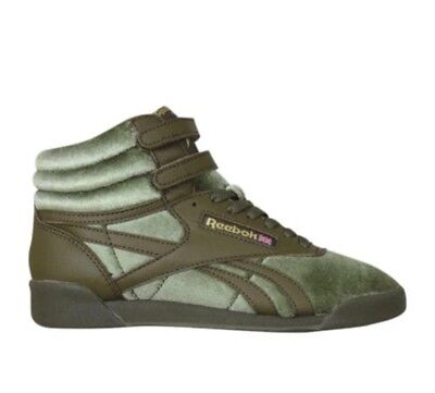 REEBOK GIRLS' FREESTYLE High Top Casual Sneakers size 6