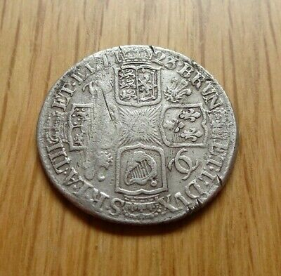 George I Silver Shilling 1723 W.c.c. Below Bust Detector Find Great Britain Uk
