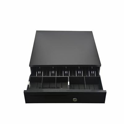 Heavy Duty Electronic Cash Drawer Box With 5 Bills And 5 Coins Tray