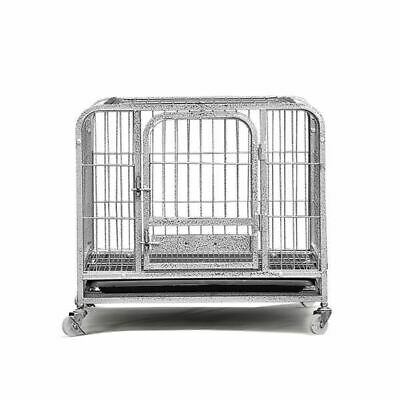 Pawz Heavy Duty Portable Metal Dog Cage With 4 Wheels