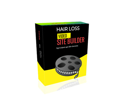 Hair Loss Video Site Builder Software   instant download