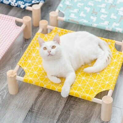 Elevated Pet Bed Dog Cat Puppy Cot Raised Cooling Indoor Pet Cozy Lounger