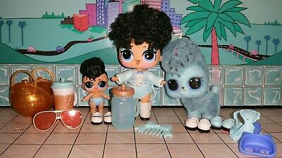 Lot of 3 LOL Surprise Dolls! Miss Jive, Lil & Jive Pup. Jive Family! Fuzzy Pet!