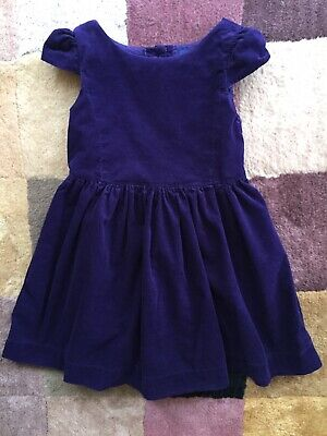 Polo Ralph Lauren Girls CUTE Purple Sleeveless Dress Size 4 T  Thin Corduroy