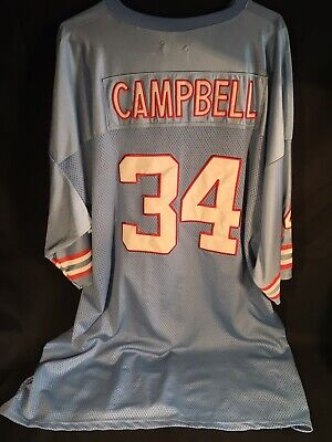 save off dc6d4 93da2 EARL CAMPBELL HOUSTON Oilers Sewn Throwback Football Jersey ...