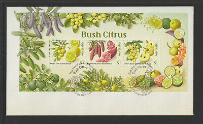 Australia 2019 : Bush Citrus - First Day Cover with Minisheet. Mint Condition