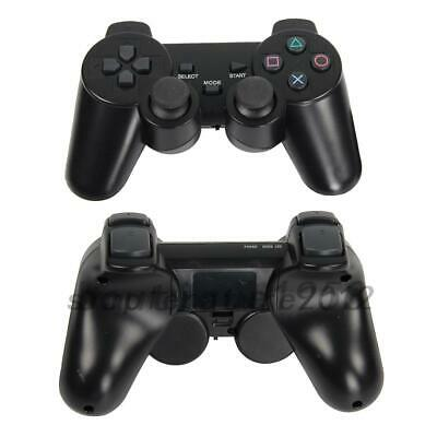 2Pcs Black Wireless Shock Game Controller for Sony PS2 AU Local