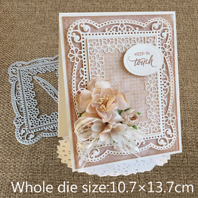 Lace Flower Frame Metal Cutting Dies Stencils Scrapbook Embossing Paper Craft