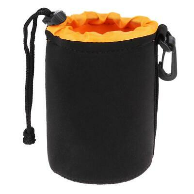 Waterproof Neoprene Camera Lens Pouch Bag Drawstring Protector Case (M)