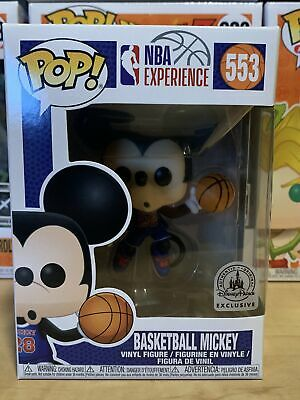 Funko Pop Mickey Mouse NBA Experience #533 Disney Park Exclusive w/Protector