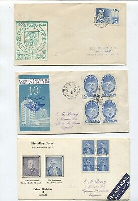 Canada First day cover collection 1935 onwards