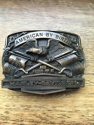 Vintage 1987 Harley-Davidson Motorcycles Solid Brass Belt Buckle