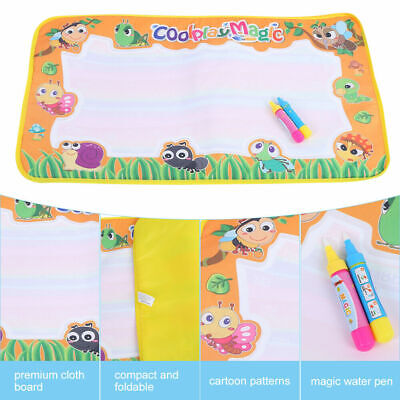 New Kids Water Mat Drawing Painting Writing Mat Board Magic Doodle Pen Gift Toy