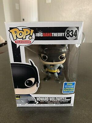 "Funko Pop! The Big Bang Theory ""Howard Wolowitz as Batman"" #834 2019 SDCC Excl."