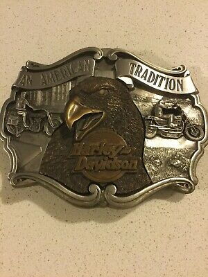 Limited Edition Vintage 1987 Harley-Davidson Motorcycles Solid Belt Buckle