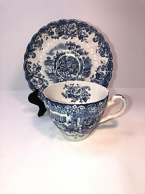 Johnson Bros.Coaching Scenes, cup and saucer Ironstone
