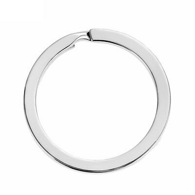 100x 30mm Key Ring Stainless Steel Keychain Split Round Loop Hoop Buckle Keyfob