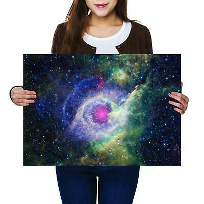 A2 | Galaxy Eye Space Nebula Size A2 Poster Print Photo Art Student Gift #2373-1