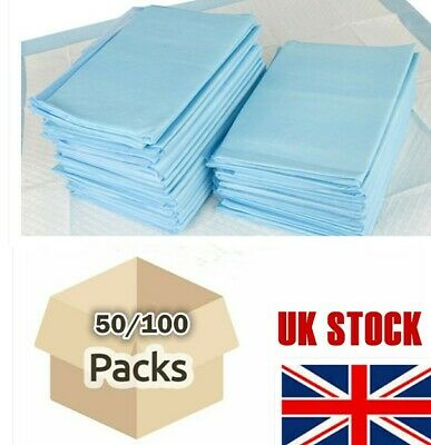 Pack 100 Under Sheet Disposable Incontinence Bed Pads Protection High Absorbency
