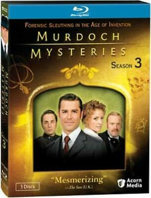 MURDOCH MYSTERIES SEASON 3 (Region A BluRay,US Import,sealed.)