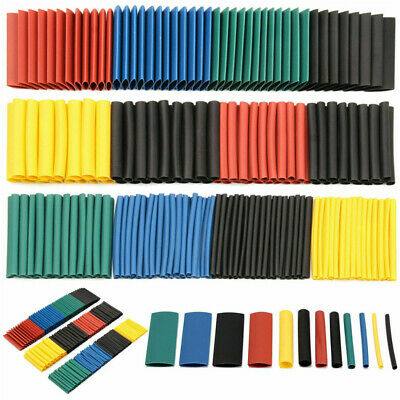 328pc Heat Shrink Tubing Tube Sleeve Kit Car Electrical Assorted Cable Wire Wrap