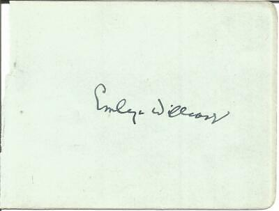 Emlyn Williams signed album page approx 3 x 4 inches, actor E562
