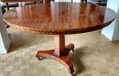 Craftsman made reproduction Regency Rosewood circular table with tilting top