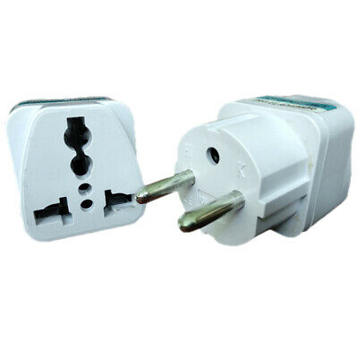 1x New US/UK/Australia to European EU Euro Travel Plug Adapter Outlet Con JOO