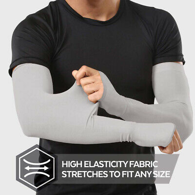 1 Pair Ice Fabric Arm Sleeves Sunscreen Sports UV Protection Running Cycling