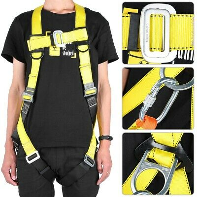 Safety Harness Full Body Fall Climbing Gear Lanyard For Construction Adjustable