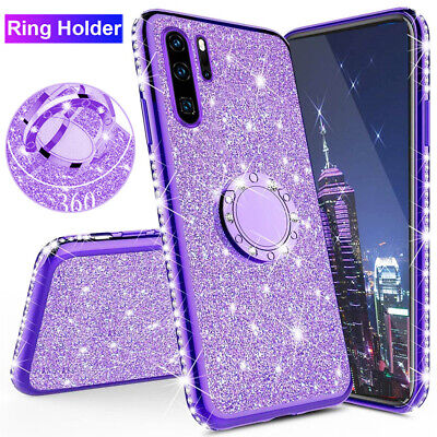 Bling Glitter Diamond Ring Hoder Case Cover for Samsung Galaxy Note 10 Plus A80