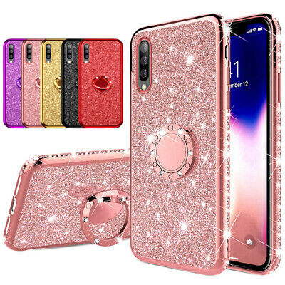 Glitter Bling Diamond Silicone Case for Samsung Galaxy Note10+ Ring Holder Cover