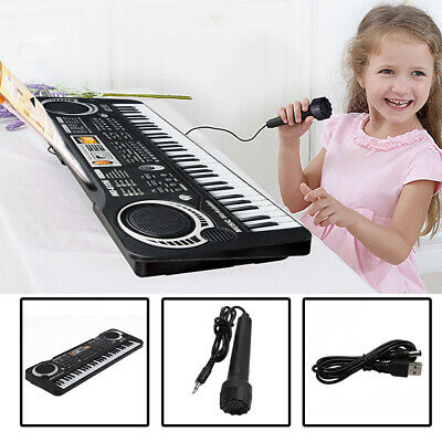 61 Key Digital Electronic Music Keyboard&Microphone LED Pianos 2 Years and Young
