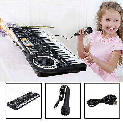 Kid's Gift Electric Keyboard Digital Music Piano 61 Keys Instrument & Microphone