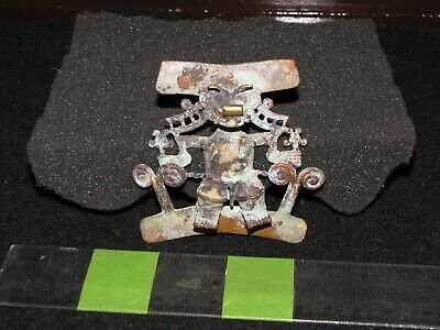 Pre Columbian, Gold/Copper, Choice Fantasy Figure Tumbaga, Pendant, 700 1550 AD