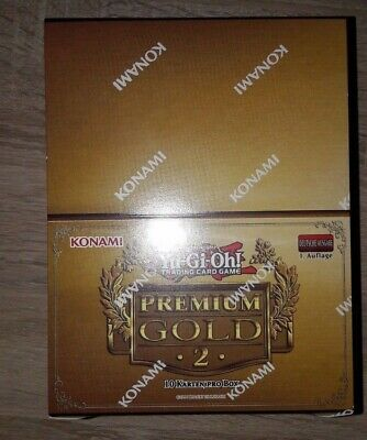 Yugioh Premium Gold 2 Booster Box Display 1.Auflage DEUTSCH NEU Exodia Karten