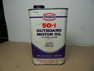 vintage 1973 TEXACO Outboard Motor OIL CAN
