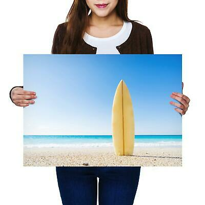 A2 | Surfboard Surf Beach Sand Size A2 Poster Print Photo Art Student Gift #2466
