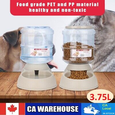 3.75L Automatic Pets Feeder Food Water Dispenser Detachable for Cats Dogs Puppy