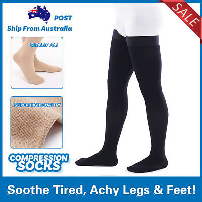 Support Medical Varicose Compression Socks,Travel Flight Closed Toe Anti Fatigue