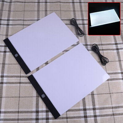 A4 USB LED Artist Tattoo Stencil Board Light Tracing Drawing Pad Table Dimmable