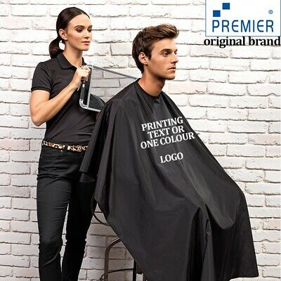 Custom/Embroidery Printed Personalised Cut Hairdressing Salon Barber Cape Black
