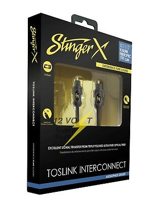 Stinger XI1117 17ft Fiberoptic Cable with TosLink Connectors