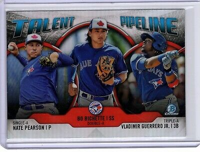 2019 Bowman Chrome Talent Pipeline Blue Jays Vladimir Guerrero Bo Bichette Jr RC