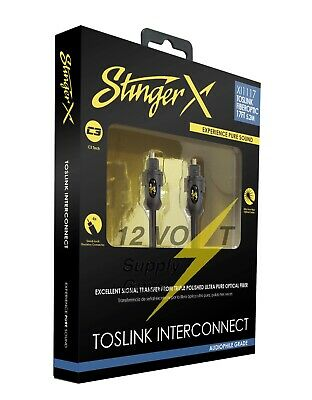 Stinger XI113 3ft Fiberoptic Cable with TosLink Connectors
