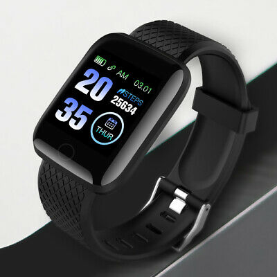 Mens Smart Watch Bluetooth Heart Rate Blood Pressure Fitness Activity Tracker UK